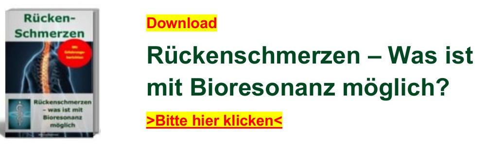 Rueckenschmerzen – was ist mit Bioresonanz moeglich