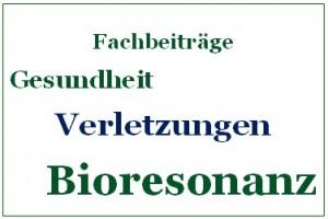 Verletzungen und Bioresonanz