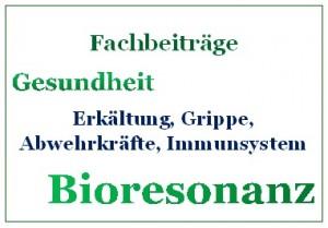 Bioresonanz Fachbeiträge Erkältung, Grippe