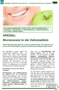 Bioresonanz in der Zahnmedizin