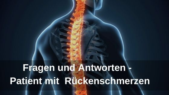 Fragen und Antworten - Patient mit Rückenschmerzen